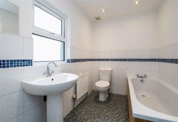 Bathroom in 27 King Street, Bangor. Refurbished town house for sale from JS Property Sales, Northern Ireland