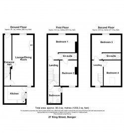 Room plan of 27 King Street, Bangor. Refurbished town house for sale from JS Property Sales, Northern Ireland